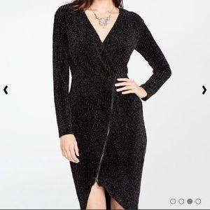 Rachel Roy Black Sparkle Party Dress Size L NWT